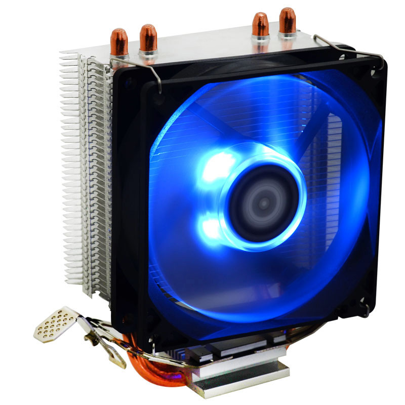 9cm CPU Heatsink Radiator Cooler Cooling Fan Blue Intelligent Temperature Control Lighting 8 SL@88 anogol braids twist handmade burgundy glueless heat resistant hair natural wigs lace synthetic front wig