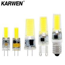 Светодиодный G4 G9 E14 лампочка AC/DC 12 В 220 В 3 Вт 6 Вт 9 Вт COB SMD светодиодный светильник заменить галогенный прожектор люстра