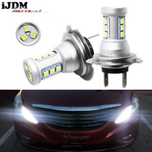 IJDMT Auto de alta potencia H7 LED 12SMD 12V para Hyundai Genesis Sonata HEV acento en Luz De Carretera luces de circulación diurna 6000K