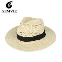 Escavar Senhoras Da Moda Chapéu Panamá Igreja Chapéus De Palha Aba Larga  Chapéus de Sol de Verão Para As Mulheres Chapeu Feminin. 426255f5e22