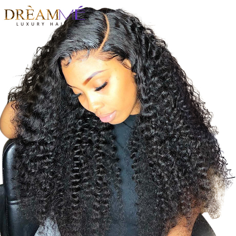 Pre Plucked Full Lace Human Hair Wigs Brazilian Remy Curly Wig With Baby Hair Pre Plucked