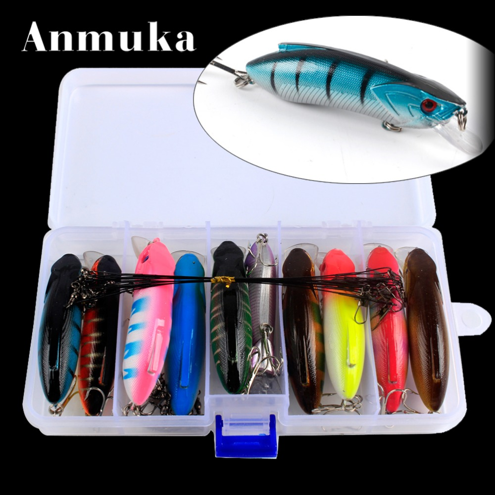Anmuka 25pcs High Quality Minnow Fishing Lures 3D Eye Artificial Bait Sea Fishing Jig Lure Super Hard Lead Fishing Lures Case wldslure 1pc 54g minnow sea fishing crankbait bass hard bait tuna lures wobbler trolling lure treble hook