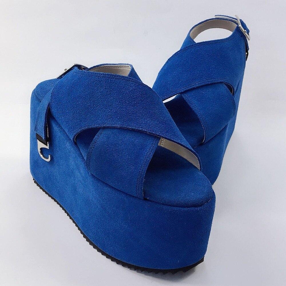 Véritable D'été Cuir Haute Femmes Sandales En Punk Chaussures Lolita Été Harajuku Occasionnel forme De Japon Strap Boucle Plate A1SUwcXqx