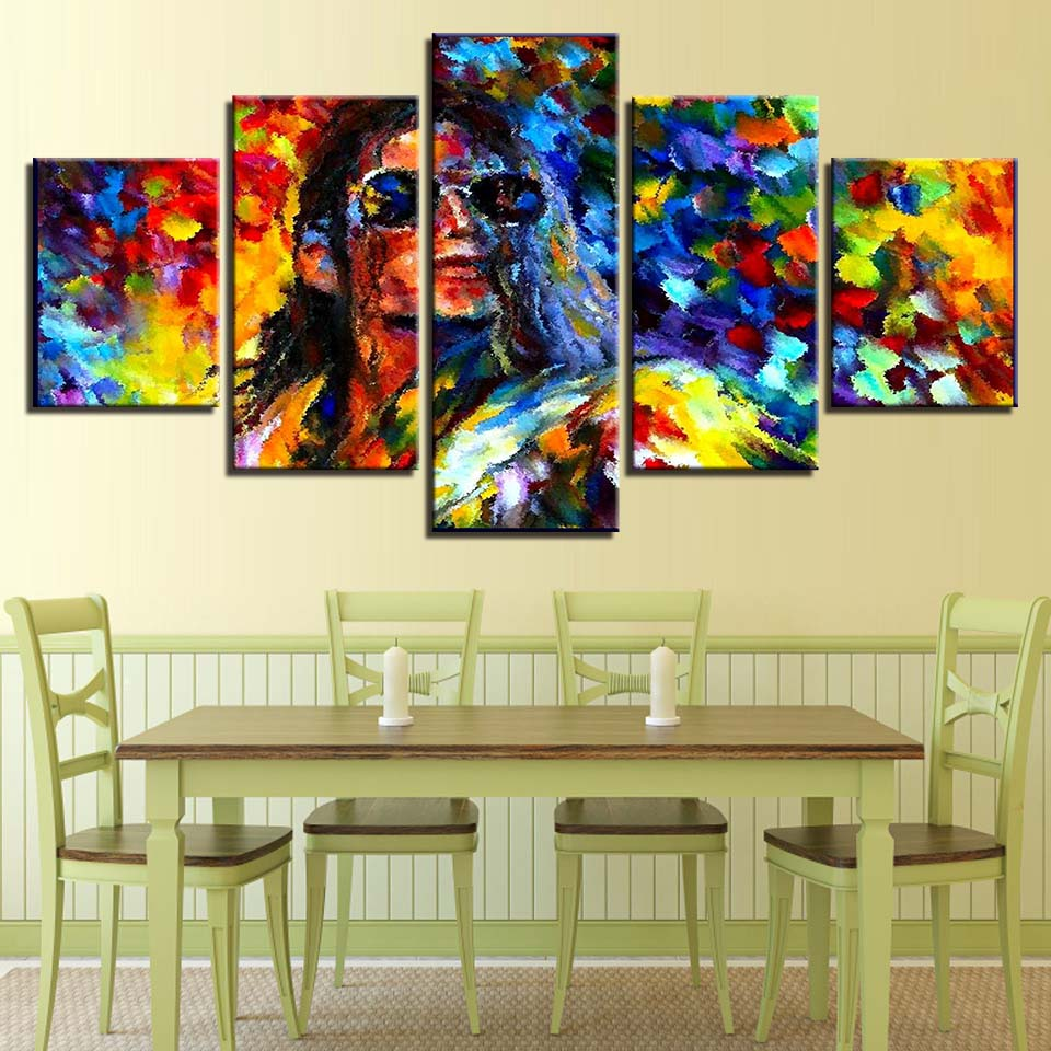 Wall Art Painting HD Printed Home Decor Canvas Poster 5 Panel ...