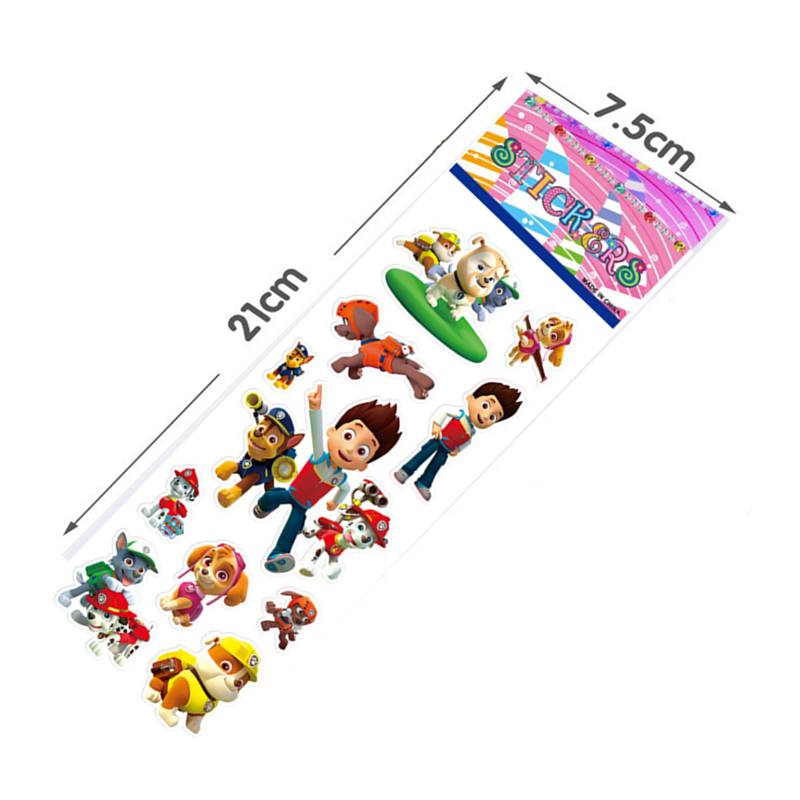 100 pcs set Paw Patrol dog bubble cartoon stickers toys Patrulla Canina toys marshall ryder Action Figures Model Toy children in Action Toy Figures from Toys Hobbies