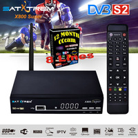 SATXTREM X800 Super DVB S DVB S2 Satellite Receiver 1080P HD Tv Tuner With 8 Lines Cccam Server For 1 Year Europe Spain Portugal