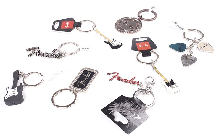 Fender Guitar Metal Keychain - Telecaster Stratocaster Fender Logo, Genuine Fender Products ...