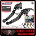For SUZUKI GSX1300 BKING 2008-2011 Motorcycle Adjustable Folding Extendable Brake Clutch Lever Black Logo B-KING