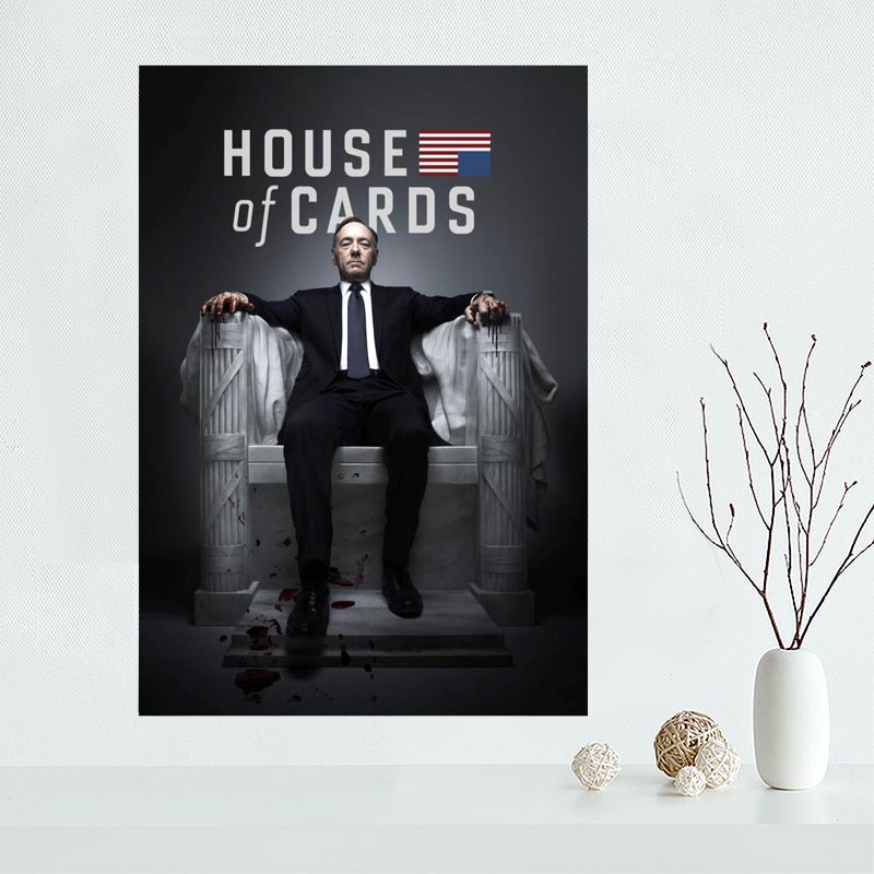 Nice House of Cards Season Poster Custom Canvas Poster Art Home Decoration Cloth Fabric Wall Poster Print Silk Fabric