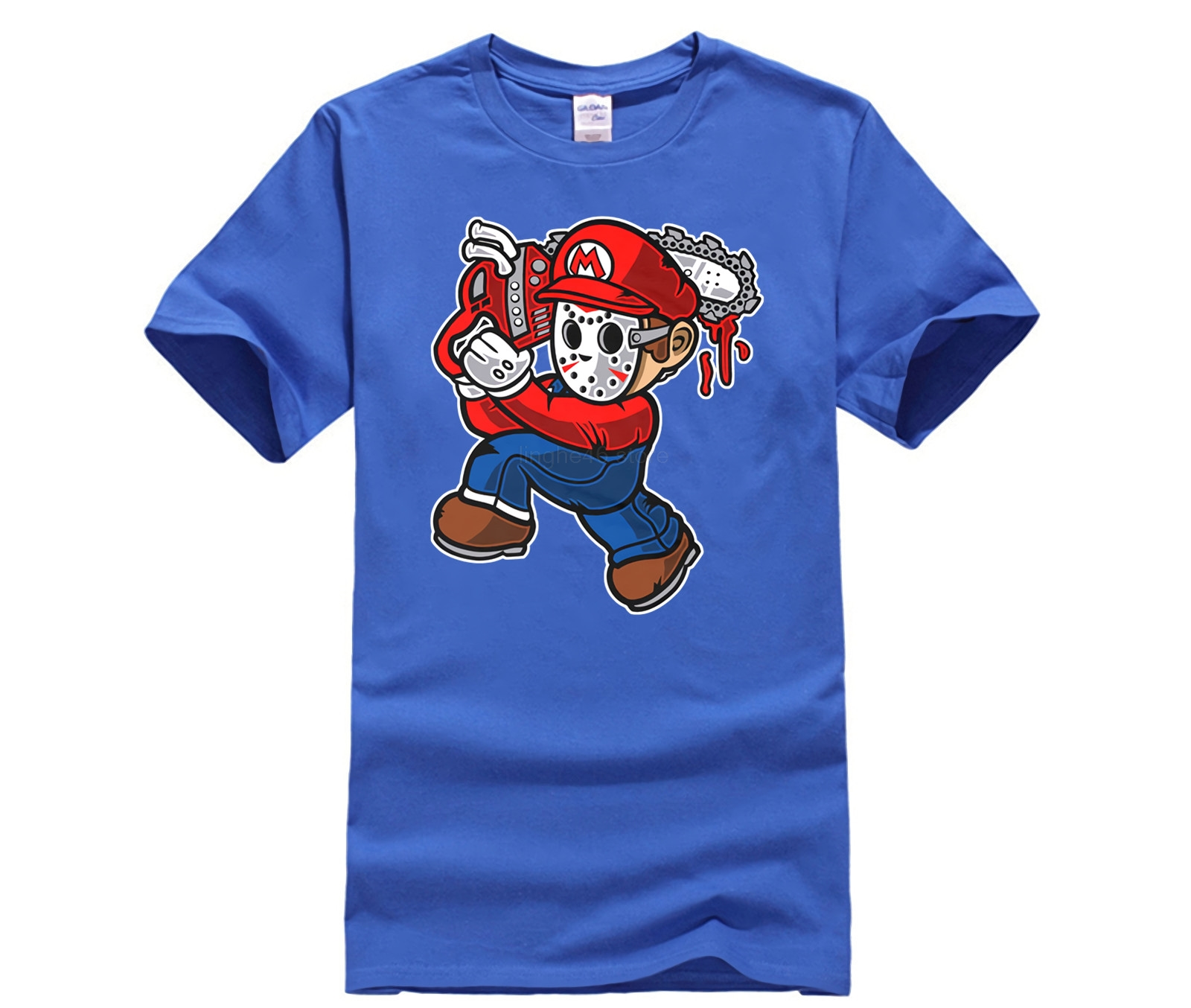 Mario Massacre Graphic design Genuine men 39 s T shirt cotton jersey New 2019 Summer Style Casual Wear in T Shirts from Men 39 s Clothing