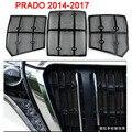 Aço inoxidável redes de prevenção de insetos do amortecedor dianteiro grille capa para toyota prado lc150 acessórios 2014-2017
