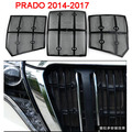 Parachoques delantero de la parrilla de acero inoxidable de insectos prevención redes cubierta para toyota prado lc150 accesorios 2014-2017