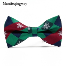 Mantieqingway Christmas Bowtie Formal Necktie Cravats Men's Santa Claus Bowties for Business Wedding Bow Tie Polyester Bow Ties