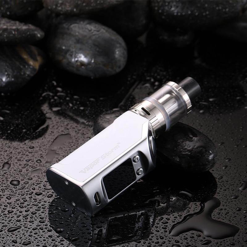 Vapor Storm mini 50W Electronic Cigarettes Kit 1200mah Temperature Control Electronic Hookah shisha pen Sub Ohm Huge Vape kit цена