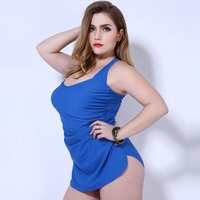 Women Sexy Swimsuit Plus Size Halter Push Up Sexy Bathing Suit Clasp Dress Solid Swimwear Free