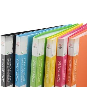 Image 3 - حافظة ملفات بلاستيكية A3 بيانات الكتاب صفحة ملونة 20 إدراج كليب 8 كيلو رسومات ألبوم ملصق A3 مجلد ملفات ل مكتب
