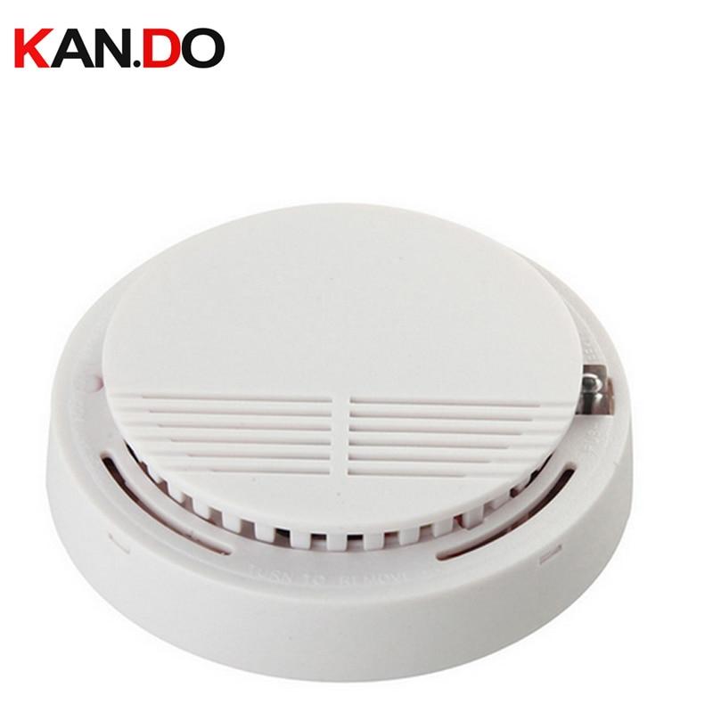 W/ 9V Battery 433mhz Wireless Fire Alarm Smoke Detector 433MHZ Home Alarm System Wireless Smoke Alarm Smoking Detecting Device
