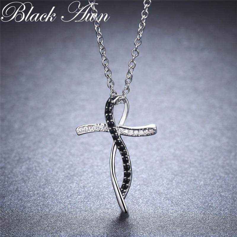 [BLACK AWN] Fine Ægte 100% 925 Sterling Sølv Halskæde Kvinder - Smykker - Foto 3