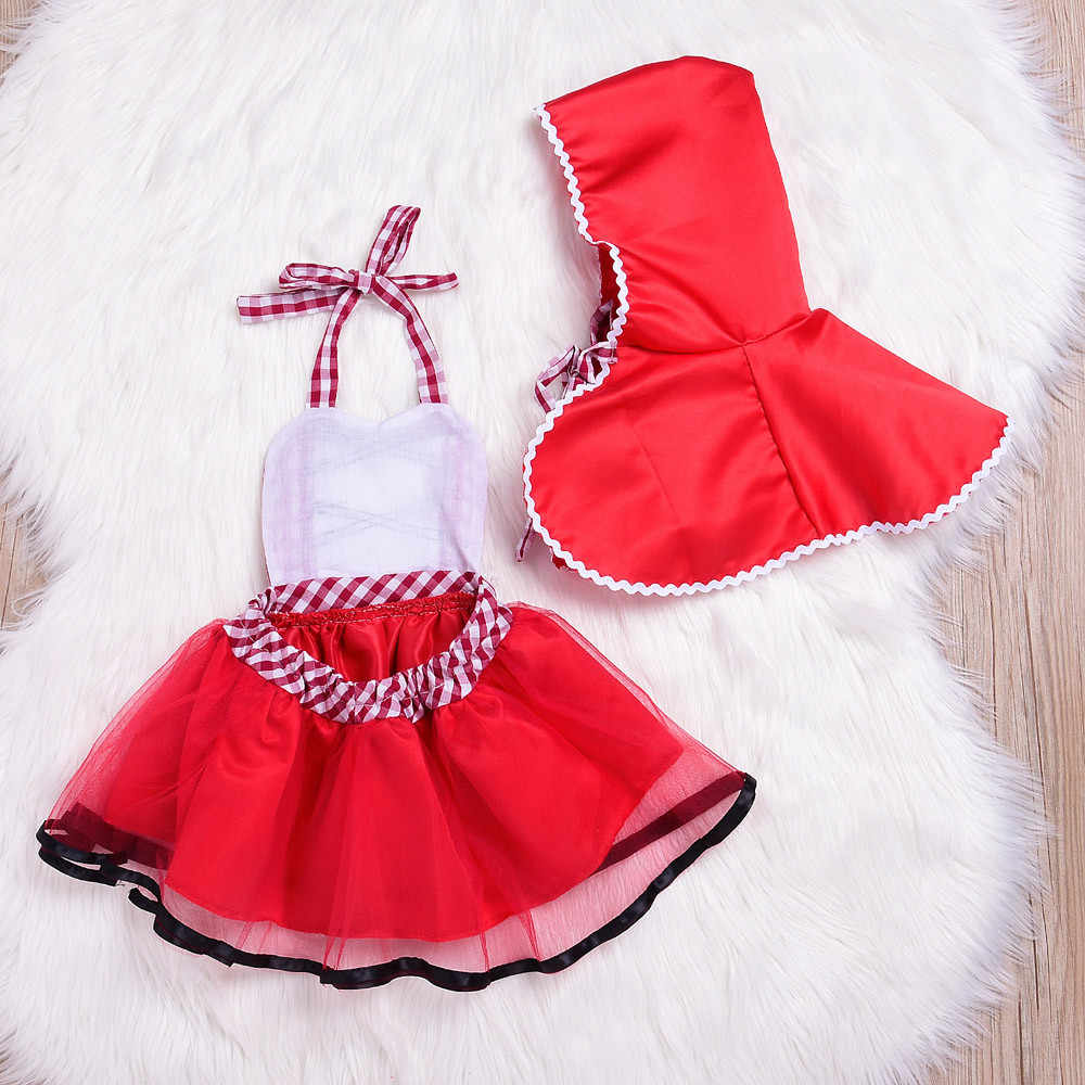 2Pcs Toddler Newborn Baby Girls Plaid Tutu Lace Dress Hooded Cloak Outfits Set Girls Dress 1 To 2 Years Dropshipping Mar18