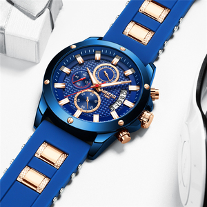 Image 3 - NIBOSI Relogio Masculino Men Watches Top Brand Luxury Unique Sport Watch Men Quartz Clock Waterproof Silicone Strap Montre Homme