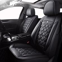 (الجبهة الخلفية) خاصة الجلود مقعد السيارة يغطي لشركة هيونداي إلنترا i10 i20 توكسون IX35 IX25 سوناتا Santafe لهجة السيارات