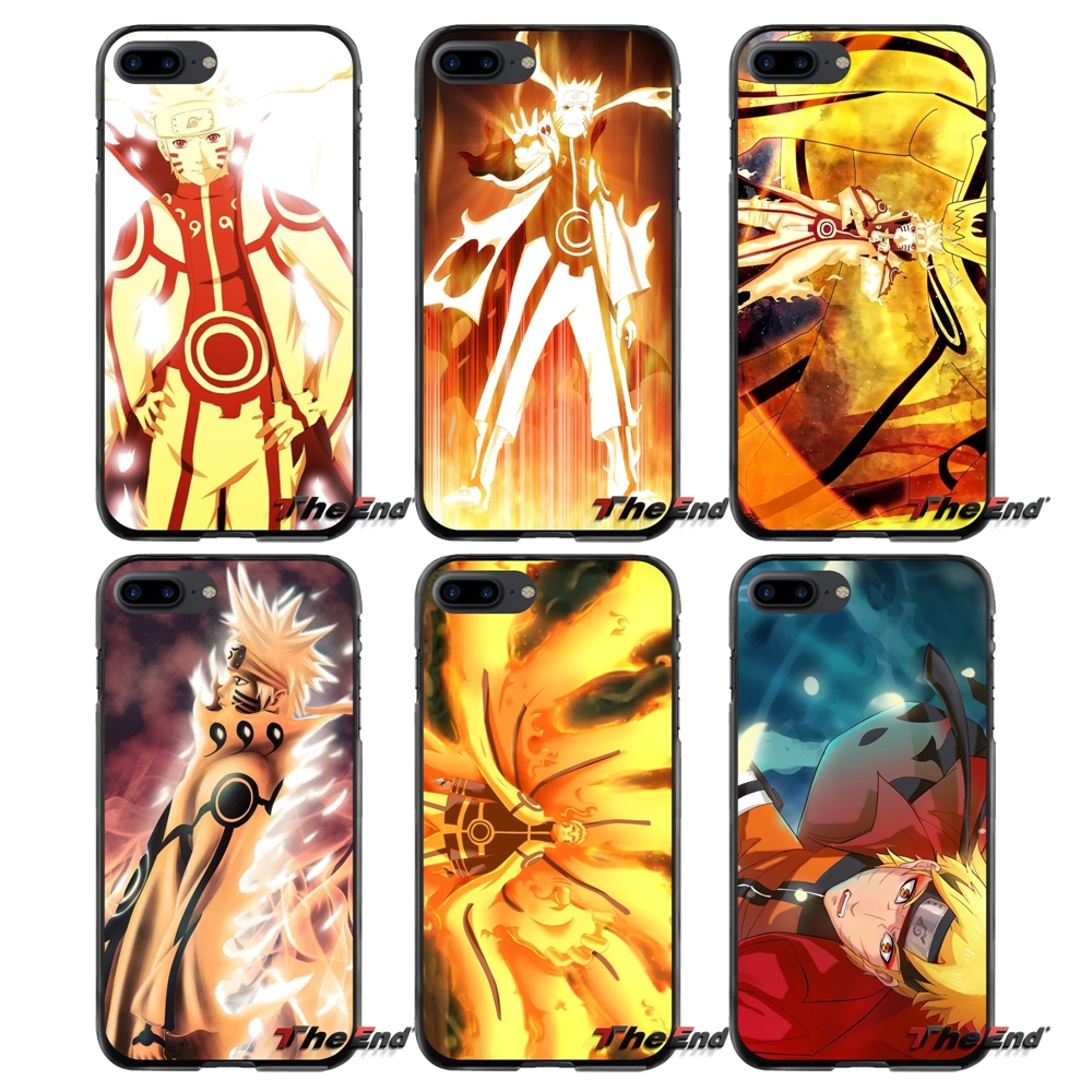 For Apple iPhone 4 4S 5 5S 5C SE 6 6S 7 8 Plus X iPod Touch 4 5 6 Naruto Kurama Mode Accessories Phone Shell Covers