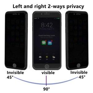Image 2 - Закаленное Стекло Экран протектор для мобильного телефона iPhone 7 6 6S Plus конфиденциальности Стекло пленка для iPhone х Защитный Стекло с антибликовым покрытием Бесплатная доставка