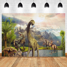 цены на Mehofoto Dinosaur Jurassic World Photo Background Photophone Child Birthday Safari Jungle Adventure Party Photography Backdrops  в интернет-магазинах