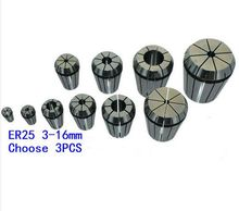 Free Shipping 3PCS for Choose ER25 Collet Chuck for Spindle Motor Engraving/Grinding/Milling/Boring/Drilling/Tapping