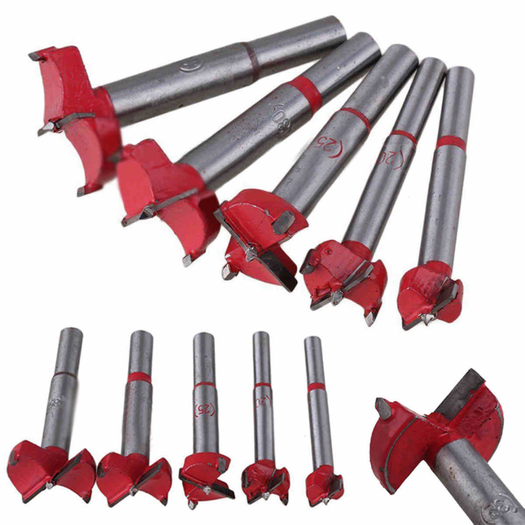 New 5pcs/Set Drill Bits Mayitr Professional Forstner Woodworking Hole Saw Cutter Hardware Hand Tools 16/20/25/30/35mm surprise price 22mm cobalt alloys forstner drill bits set for sale