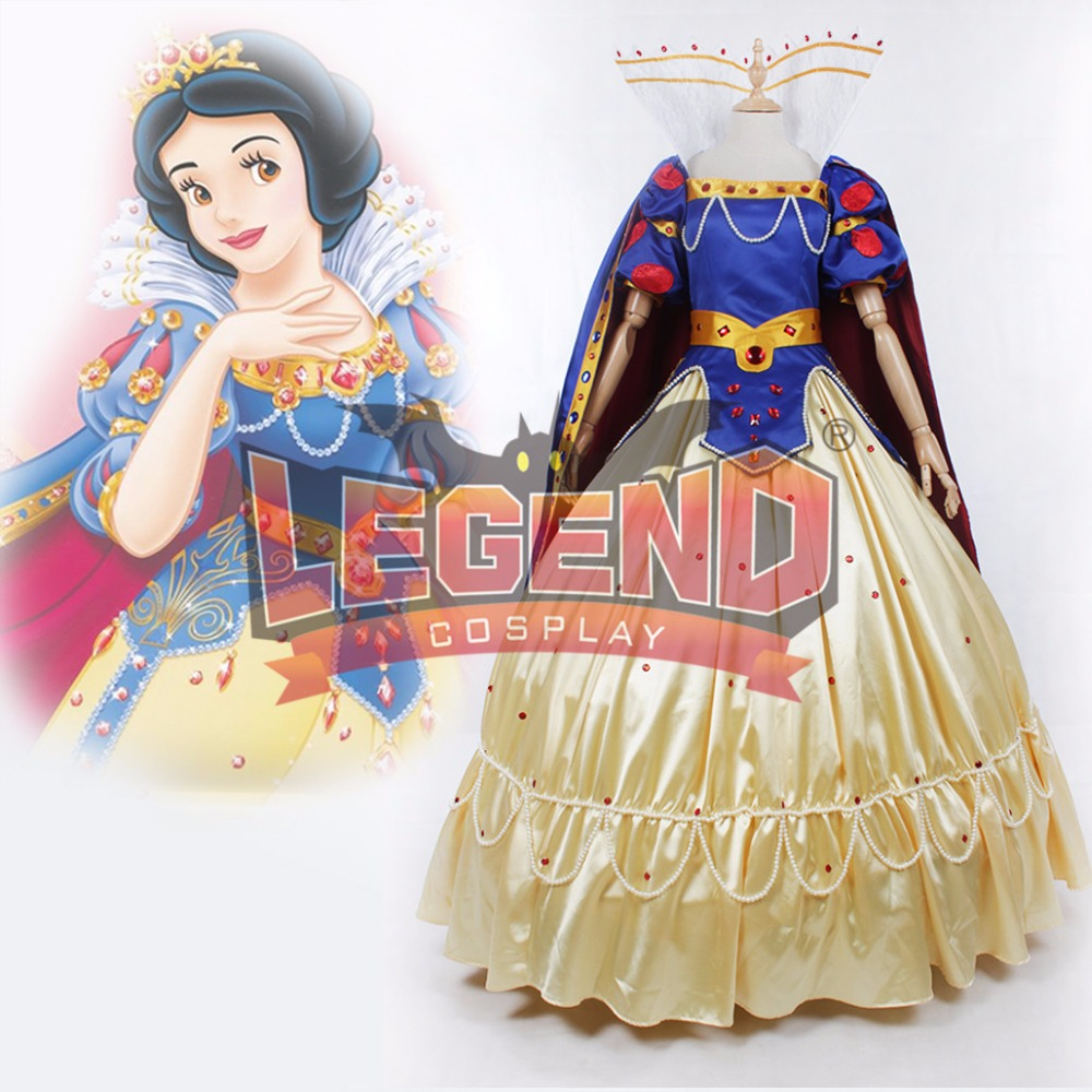 Snow White Princess Dress Costume Adult Snow White Top Skirt Cape Cosplay Costume Halloween Carnival Birthday Party Costume