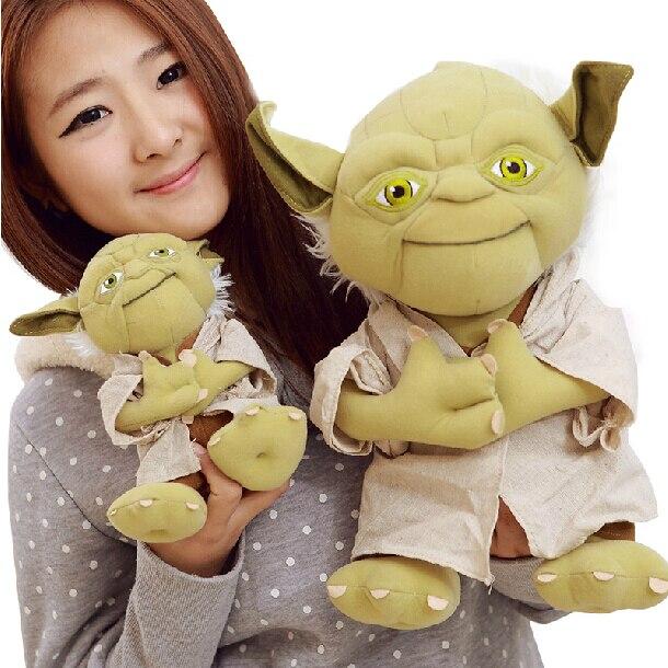 Yoda plush 1pc 922cm  Star Wars Figure Plush Toy Aliens Yoda Soft Stuffed Plush Doll Toy Kawaii Toy for Baby 9 23cm super mario bros grey brick plush toy soft stuffed doll 1pcs pack
