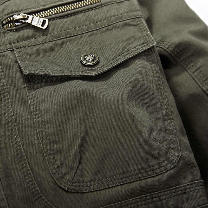 新プラスサイズ 7XL 8XL 秋のミリタリージャケット男性綿ブランド生き抜くマルチポケットメンズコート男性やつ