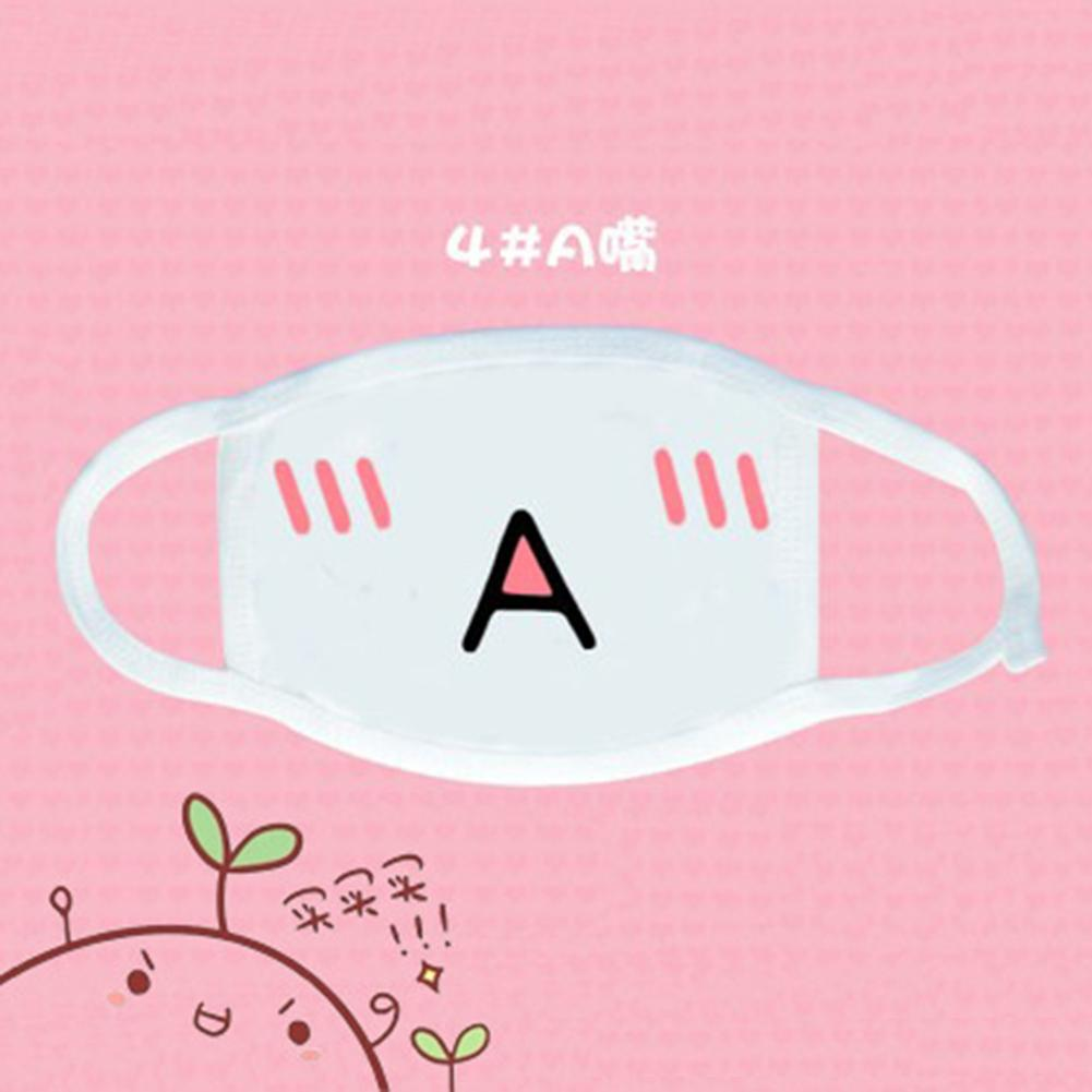 Durable Mouth Cover Mask Cotton White Anime Emoticon Mouth-Muffle Kaomoji Anti-Dust Cute Kawaii Lovely Facial Mask