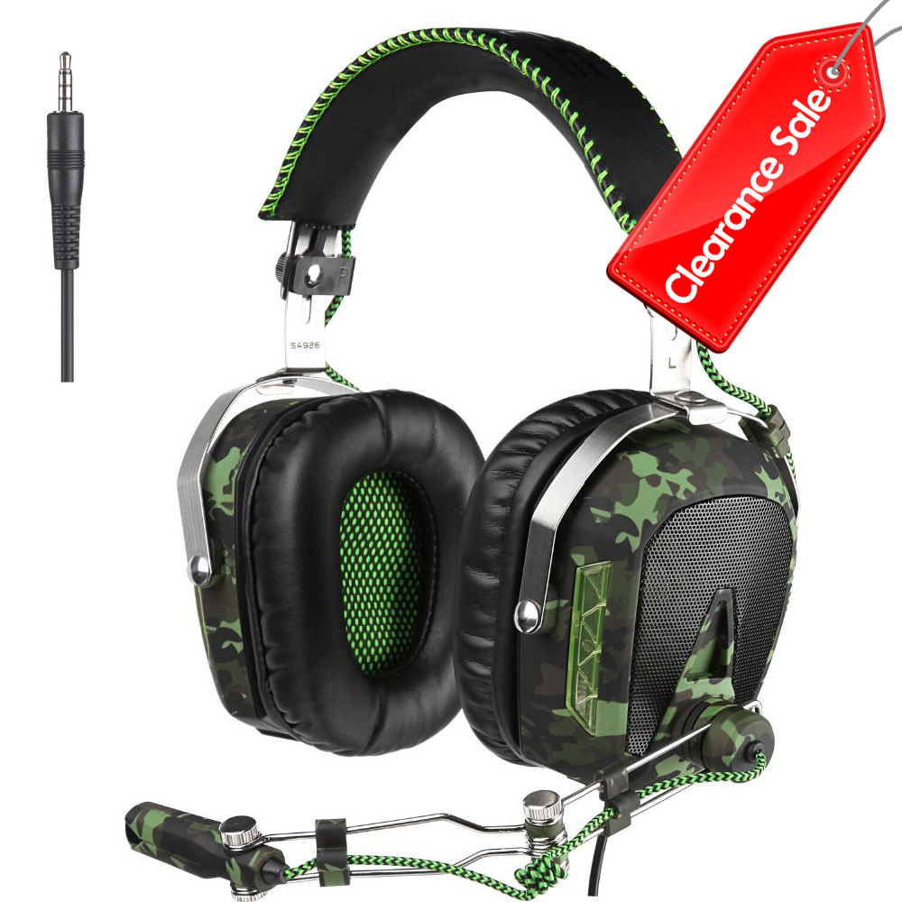 SADES SA926T 3.5mm Gaming Headset Headphones For Xbox One Mobile Phone Mac Laptop PC Camouflage teamyo n2 computer stereo gaming headphones earphones for mobile phone ps4 xbox pc gamer headphone with mic headset earbuds