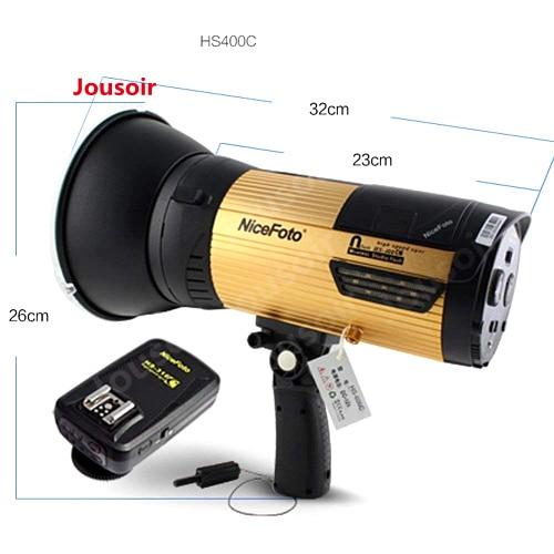 Nicefoto HS400C flash extérieur 400 w haute vitesse Sync n-flash sans fil LED extérieur flash/stroboscope Studio lumière pour caméra CD50