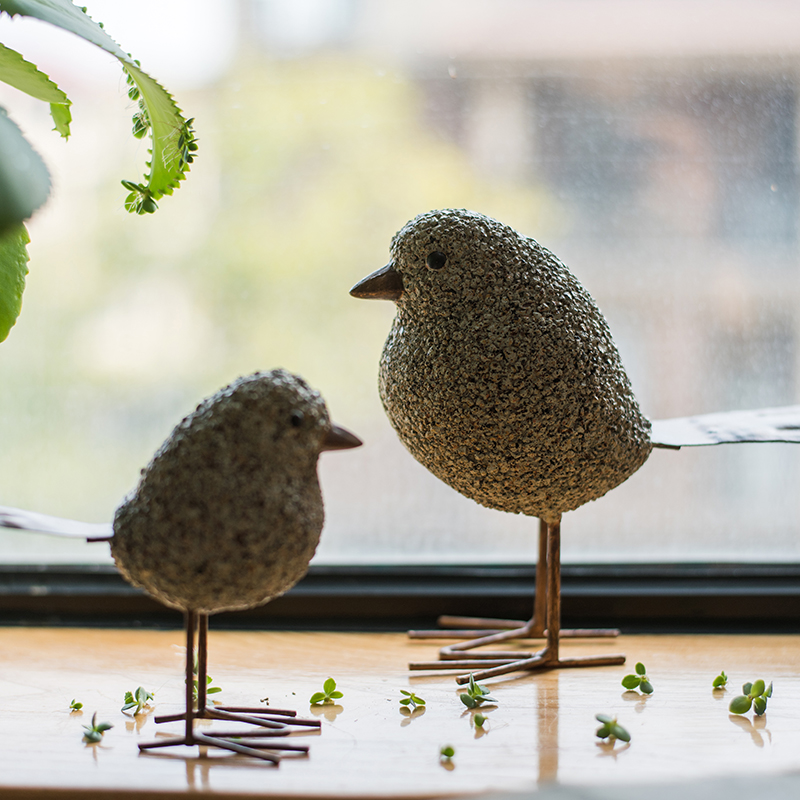 Creative Handmade Resin Art Bird Mini Decoration Household Wine Cabinet Miniatures Office Desk Luck Figurines Crafts Sent Friend