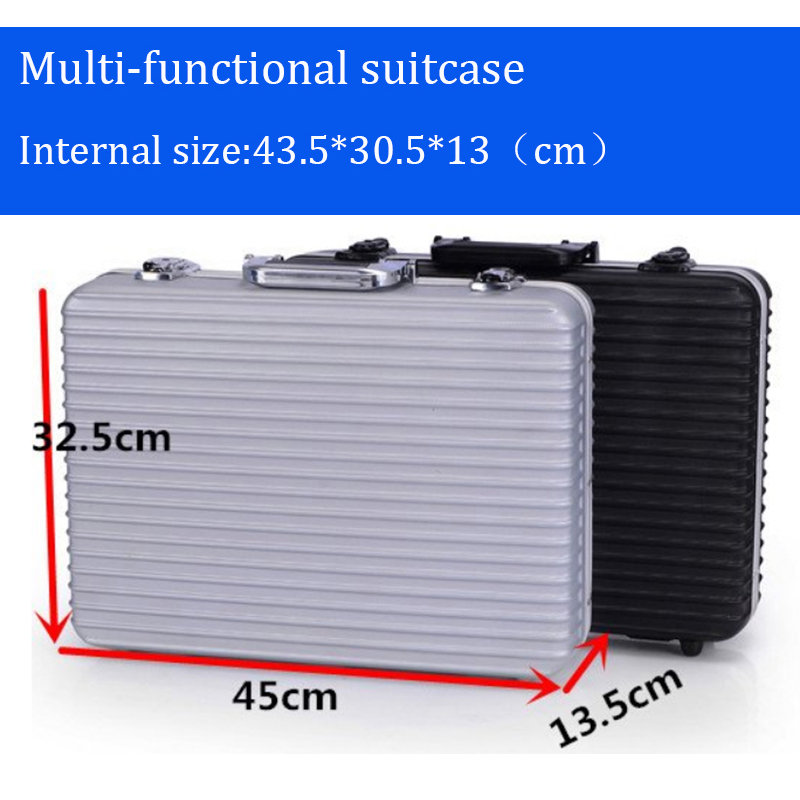 High Quality Toolbox Protective Aluminium Tool Case Props File Storage Hard Case Carrying Box For Hand Gun Locking Pistol