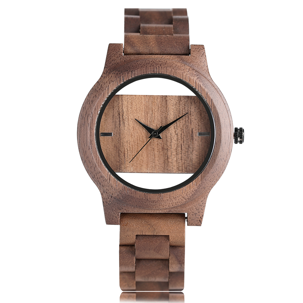 Unique Wrist Watch Wood Women Analog Hollow Bangle 2017 New Arrival Nature Wood Creative Novel Fold Clasp Men Bamboo Clock Gifts yisuya simple fold clasp quartz wristwatch handmade bamboo analog women creative watches men bangle nature wood relogio gift