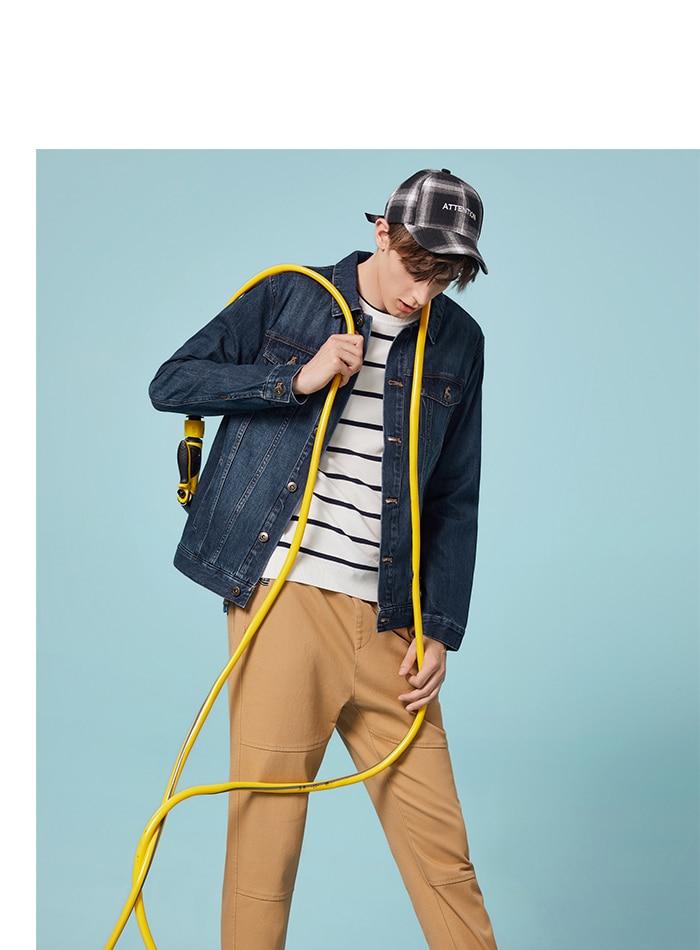 HTB1qtelaRCw3KVjSZFlq6AJkFXaL SEMIR Men Denim Jacket Men Washed Denim Jacket Classic Denim Jacket with Collar for Men Casual Fashion Spring Autumn Clothes