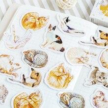 20 paquetes/lote Mini Cat Disease etiquetas de papel con pegatina adhesivo para diario Scrapbooking pegatinas decorativas DIY al por mayor