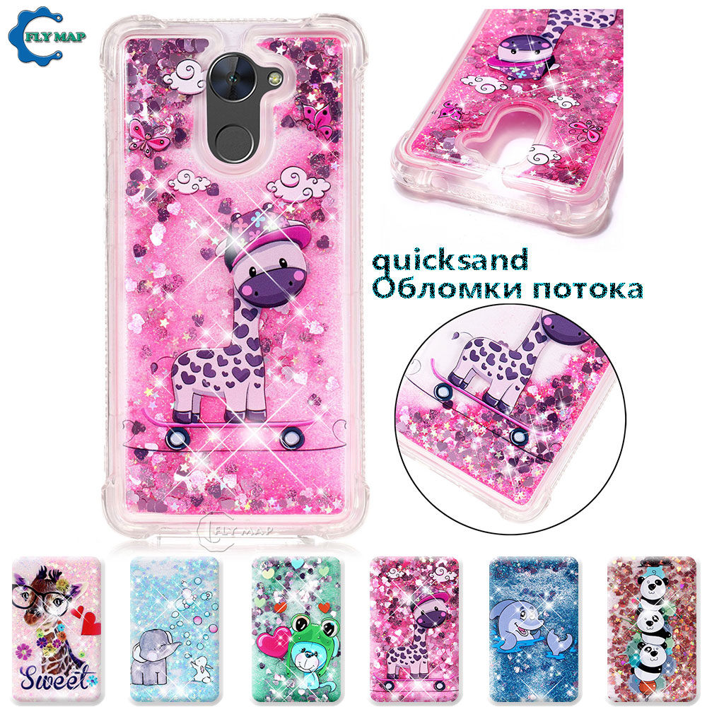 Cellphones & Telecommunications Phone Bags & Cases Rational For Huawei Y7 Prime 2017 Trt-lx1 Trt-l21a Trt Lx1 L23 L21a Lx1a Glitter Stars Dynamic Liquid Quicksand Tpu Case Cover Casing Sufficient Supply