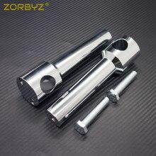 """ZORBYZ 1 """"25mm Universele Chrome Stuur Bar Risers Bars Mount Klem Voor Harley Honda Victory Ducati Motorfiets"""