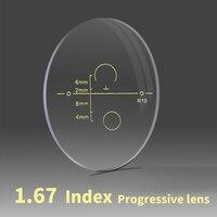1 67 Index Aspheric Multi Focus Progressive Lens CR 39 Prescription Myopia Presbyopia Eye Glasses Lens