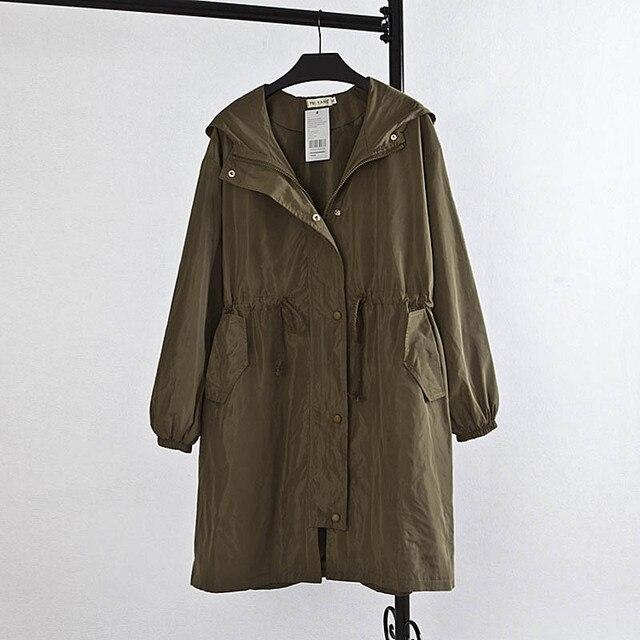 Новый Женщины С Капюшоном Пальто Плюс Размер 3XL Случайные Свободные Длинные Траншеи Верхняя Одежда KK1358