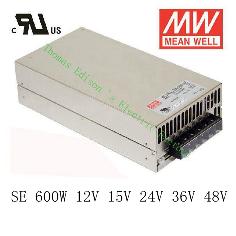 Original MEAN WELL power suply unit ac to dc power supply 600W 12V 50A 15V 40A 24V 25A 36V 16.6A 48V 12.5A MEANWELL meanwell 12v 350w ul certificated nes series switching power supply 85 264v ac to 12v dc