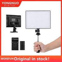 永諾 YN300 YN 300 空気 LED カメラビデオライト 3200 K 5500 K と NP F750 デコードバッテリー + 充電器キヤノンニコン & ビデオカメラ