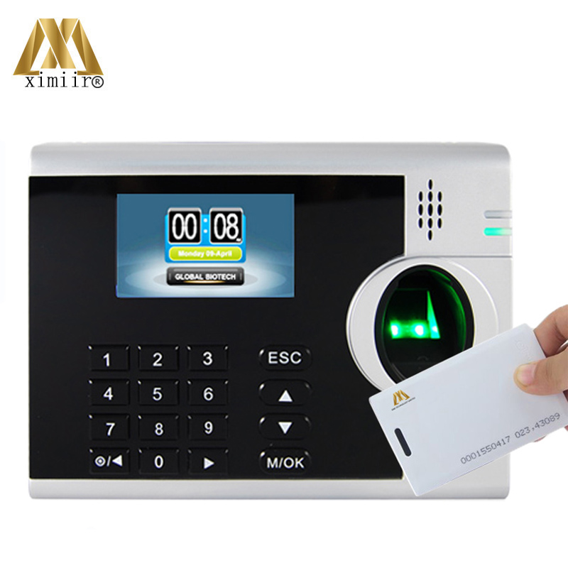 XM218 TCP/IP RFID Fingerprint Time Attendance Machine With 3 Inches TFT Screen 10000 Card Capacity LINUX System Free Shipping