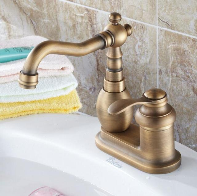 Dual Retro Antique Finished Bathroom Faucet
