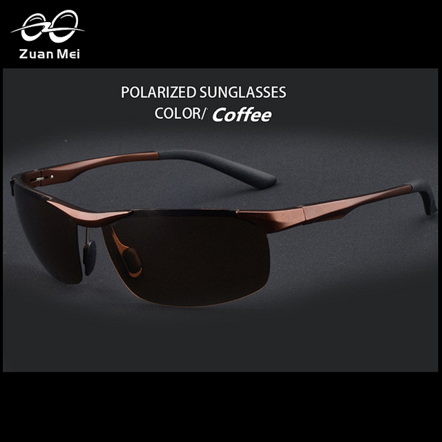 Zuan Mei Aluminio Polarizadas Hombre gafas de Sol Deportivas Gafas de Sol de Espejo De Los Hombres Gafas de Conducción Al Aire Libre de Los Hombres Gafas Gafas R-8531